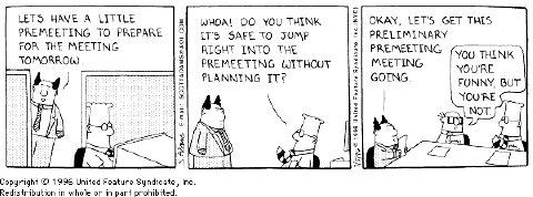 Dilbert pre-premeeting